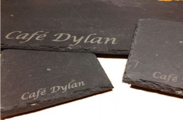 Engraved Slate Serving Plates 25cm x 25cm